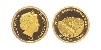 10 Dollar 2009 - Velká čínská zeď, PROOF