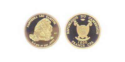 1500 Franků 2011 - Lev jihoafrický, PROOF