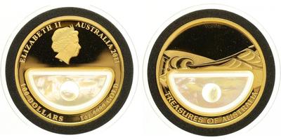 100 Dollar 2011- Poklady Austrálie - Perla, PROOF
