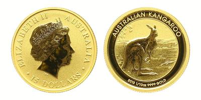 Austrálie, 15 Dollar 2013 - Australský klokan, standart