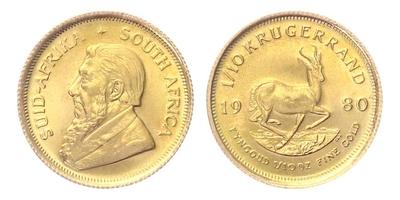 Jihoafrická republika, Krugerrand 1980, 1/10 OZ
