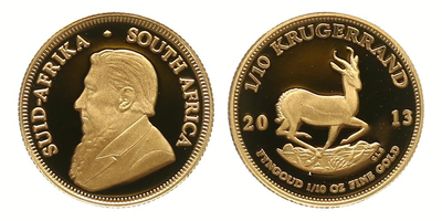 Jihoafrická republika, Krugerrand 2013, 1/10 OZ, PROOF
