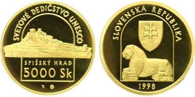 5000 Sk 1998 - Spišský hrad, PROOF
