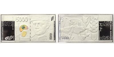 Medaile 2003 - Pamětní medaile s motivem slovenské bankovky 5000 Sk