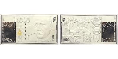 Medaile 2003 - Pamětní medaile s motivem slovenské bankovky 1000 Sk