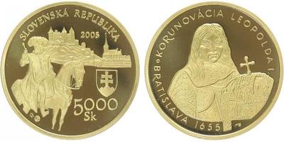 5000 Sk 2005 - 350. výročí korunovace Leopolda I.