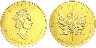 Kanada, 50 Dollar 1990, běžná kvalita