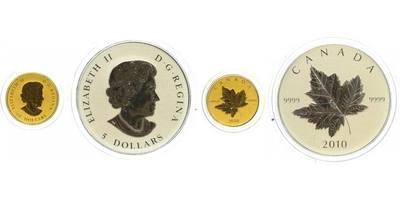 Kanada, Sada 10 Dollar a 5 Dollar 2010, PROOF