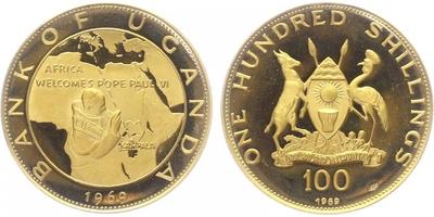100 Šilink 1969, Afrika vítá papeže Pavla VI., PROOF