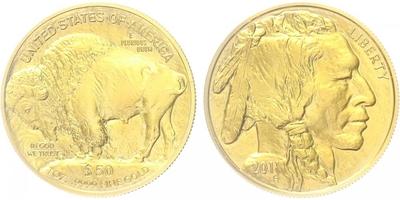 50 Dollar 2011, American Buffalo, bk