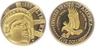 5 Dollars 1986 - Half Eagle