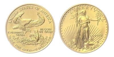 USA, 5 Dollars 1992