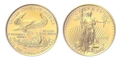 USA, 5 Dollars 1998