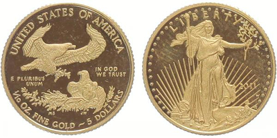 5 Dollars 2011 - 1/10 Oz., PROOF