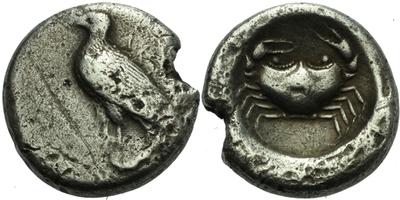 AR Didrachma - Orel s nápisem AKRA / Krab, Sear.709, 20 mm (8,3 g)
