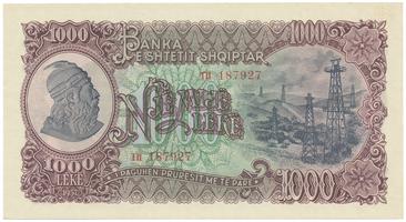 Albánie, 1000 Leke 1957, P.32