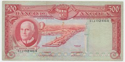 Angola, 500 Escudos 1962, P.95