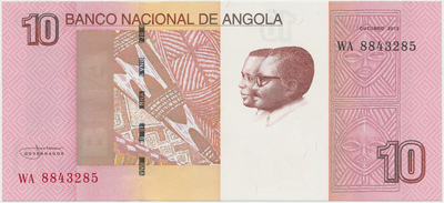 Angola, 10 Kwanzas 2012, P.151Ba