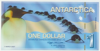 Antarktida, 1 Dollar 1.3.2007