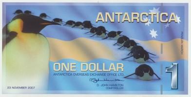Antarktida, 1 Dollar 23.11.2007