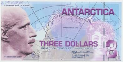 Antarktida, 3 Dollars 14.12.2007