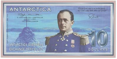 Antarktida, 10 Dollars 1.1.2001