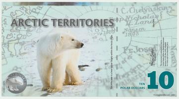 Arktida, 10 Dollars 2010