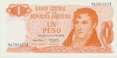 Argentina, 1 Peso (1974~1976), P.293