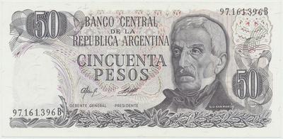 Argentina, 50 Pesos (1977~1982), P.301b