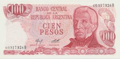 Argentina, 50 Pesos (1976~1978), papír bez vláken, P.301a