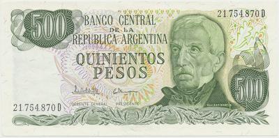 Argentina, 500 Pesos (1977~1982), P.303c
