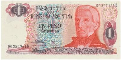 Argentina, 1 Peso Argentino (1983~1984), P.311a