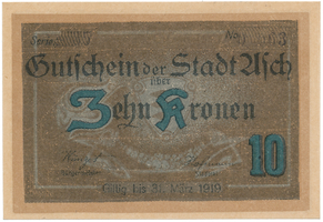 Asch (Aš) - město, 10 K (do 31. 3. 1919), HH.1.13.3c