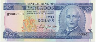 Barbados, 2 Dollars (1980), P.30a