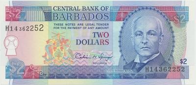 Barbados, 2 Dollars (1995), P.46