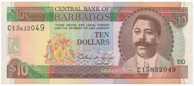 Barbados, 10 Dollars (1995), P.48