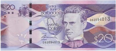 Barbados, 20 Dollars 2013, P.76