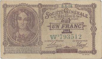 Belgie, 1 Franc 1916, P.86b