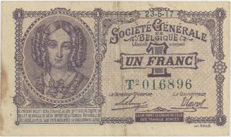 Belgie, 1 Franc 1917, P.86b
