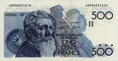 Belgie, 500 Francs (1982), P.143