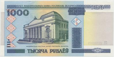 Bělorusko, 1000 Rubl 2000, P.28b