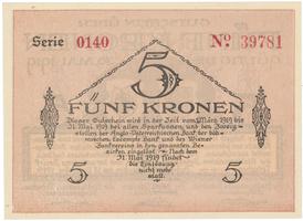 Bodenbach - Tetschen (Podmokly - Děčín), 5 K  15. 11. 1918, HH.11.1.1c