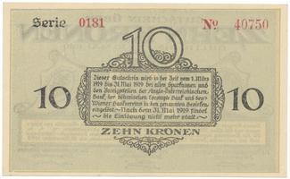 Bodenbach - Tetschen (Podmokly - Děčín), 10 K  15. 11. 1918, HH.11.1.2b