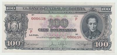 Bolívie, 100 Bolivianos 1945, P.142