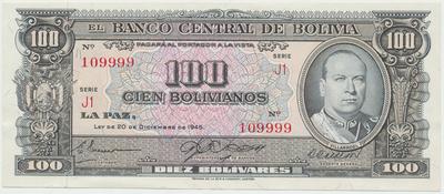 Bolívie, 500 Bolivianos 1945, P.143