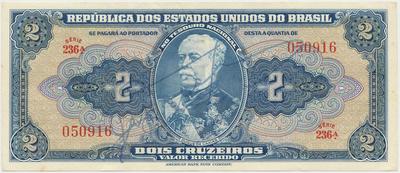 Brazílie, 5 Cruzeiros (1943), s ručním podpisem, P.134