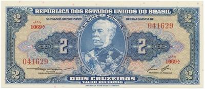 Brazílie, 1, 2(3x), 5, 20(2x) Cruzeiros (1954~1963), sada 7 ks