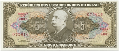 Brazílie, 5 Cruzeiros (1962), P.176a