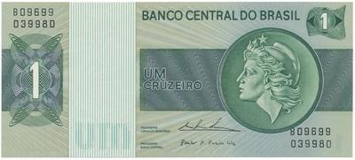 Brazílie, 1 Cruzeiro (1975), P.191Ab