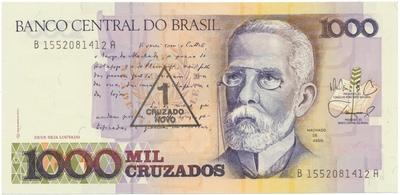 Brazílie, 1 Cruzado Novo (1989), P.216b